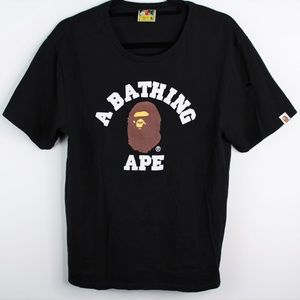 A Bathing Ape Head College Tee Big Logo Spell Out